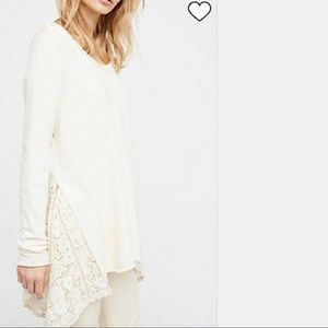 FREE PEOPLE No Frills Pullover Sweatshirt Top NWT